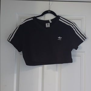 Adidas 3 Strip crop tee